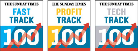 Sunday Times Track Series logos